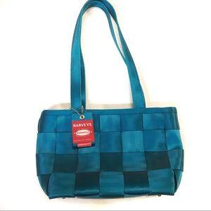 Harveys blue teal bag original seatbelt bag USA